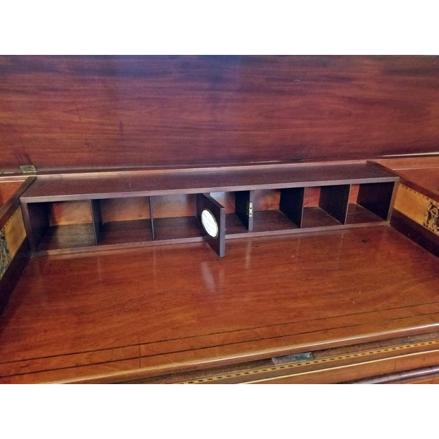 George III Period ….. REGENCY !!! Really nice and interesting piece !! Beautiful Cuban mahogany inlaid with satinwood and...