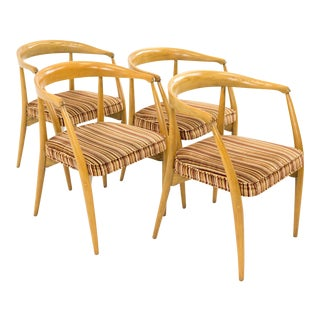 Vintage Mid-Century Lawrence Peabody for Nemschoff Barrel Dining Chairs - Set of 4 For Sale