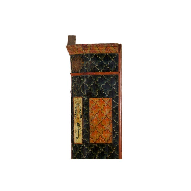 19th Century Antique Painted Armoire Cabinet Circa Late 19th Century For Sale - Image 11 of 13