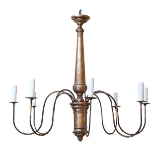 Italian Giltwood Chandelier For Sale
