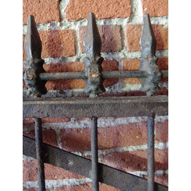 Traditional 1800s Forged Iron Dual Driveway Gates - a Pair For Sale - Image 3 of 10