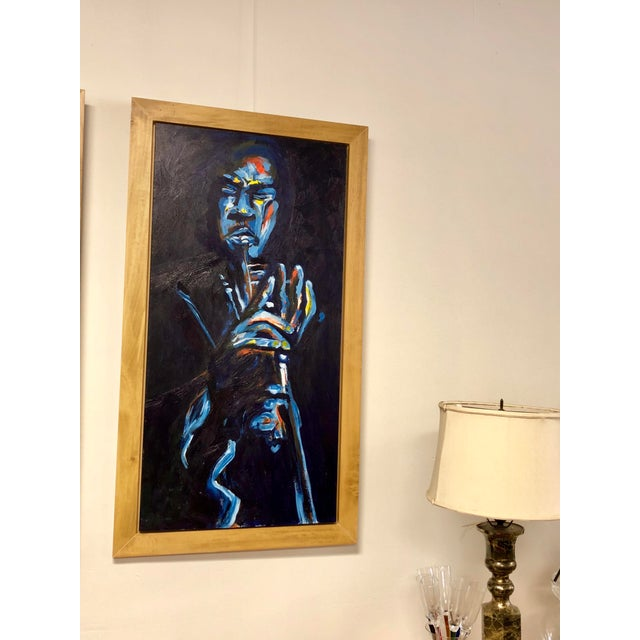 "Original ""Jazz Trumpeter"" Framed Oil Painting by Lani Mustad Stringer For Sale - Image 10 of 12"