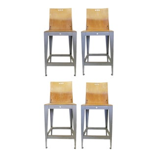 Industrial Bar Stools by Falcon - Charlotte Collection For Sale