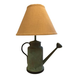 Ethan Allen Watering Can Lamp and Shade For Sale