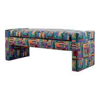 Preview Kagan Attr. Contemporary Modern Multi Color Upholstered Bench For Sale