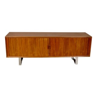 Danish Modern Walnut Sideboard For Sale
