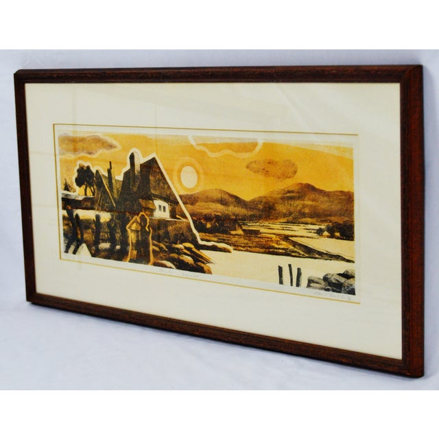 Vintage Framed Limited Edition Landscape Serigraph - Signed and Numbered Condition consistent with age and history. Some...