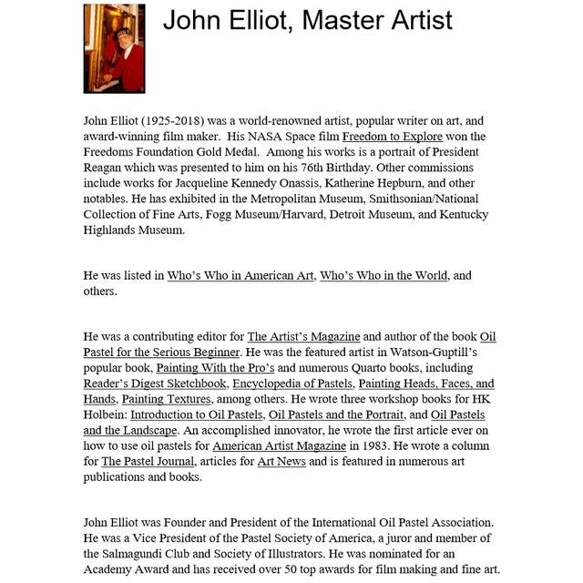"Vintage ""Roses"" Painting by Artist John Elliot For Sale - Image 10 of 13"