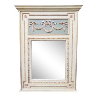 Vintage Large French Provincial Style Mirror For Sale