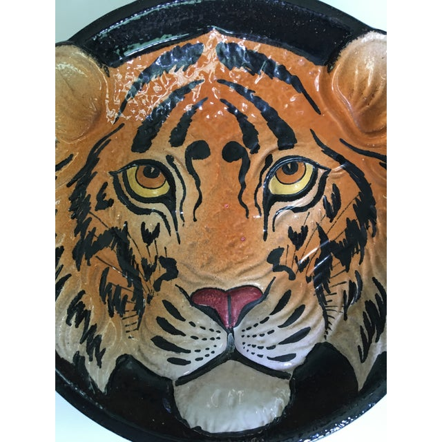 Taste Setter by Sigma Mid 20th Century Italian Mid-Century Tiger Face Pottery Bowl/Catchall For Sale - Image 4 of 13
