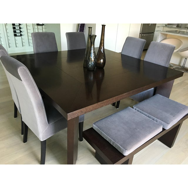 Textile Modern Classic Dining Set & Vases For Sale - Image 7 of 11
