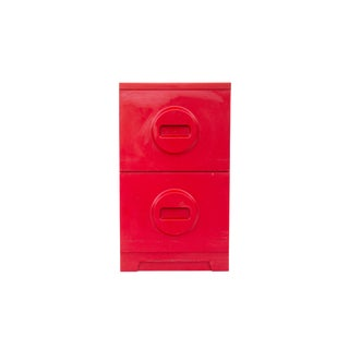 Mod 2 Drawer Filing Cabinet in Red For Sale