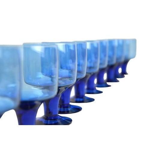 Mid-Century Petite Blue Goblets - Set of 12 - Image 2 of 2