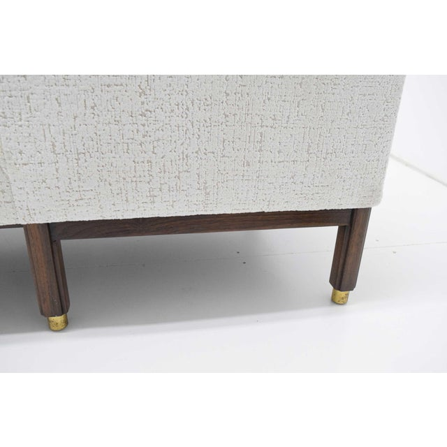 White 1950s Vintage Dunbar Tête-à-Tête Sofa by Edward Wormley For Sale - Image 8 of 10