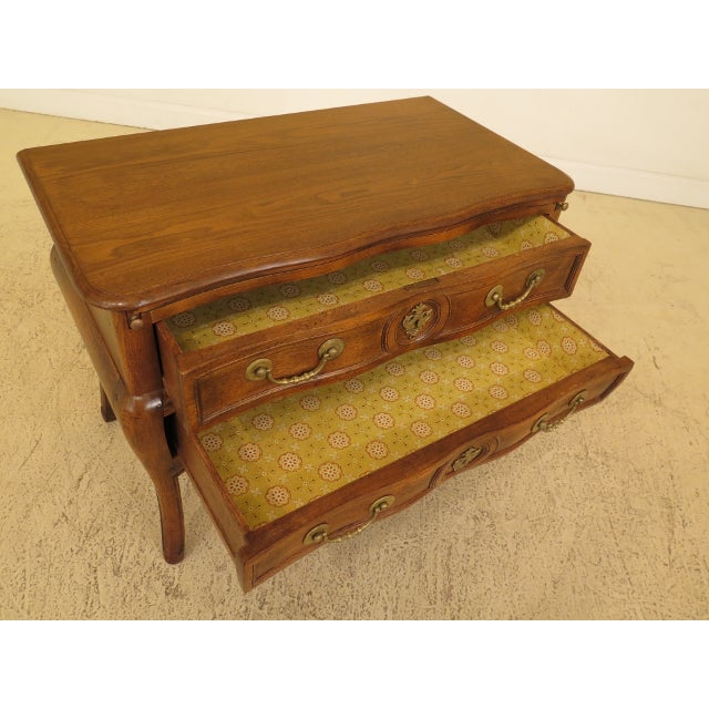 Vintage Italian 2 Drawer Walnut Commode Chest For Sale - Image 10 of 13