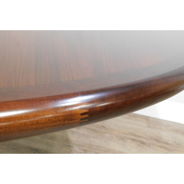 Wood Danish Modern Oval Teak Expandable Dining Table by Ansagar Mobler For Sale - Image 7 of 13
