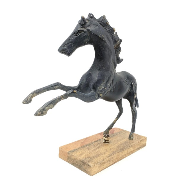 Vintage Mounted Horse Sculpture For Sale - Image 4 of 13