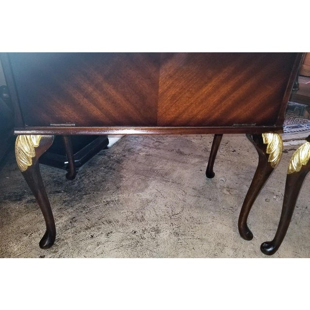 Chippendale Mahogany With Gilt Accents Side Tables / Nightstands - a Pair For Sale - Image 10 of 13