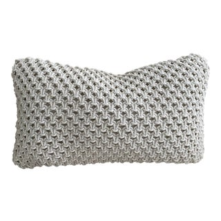 Off White Knotted Pillow Cover For Sale