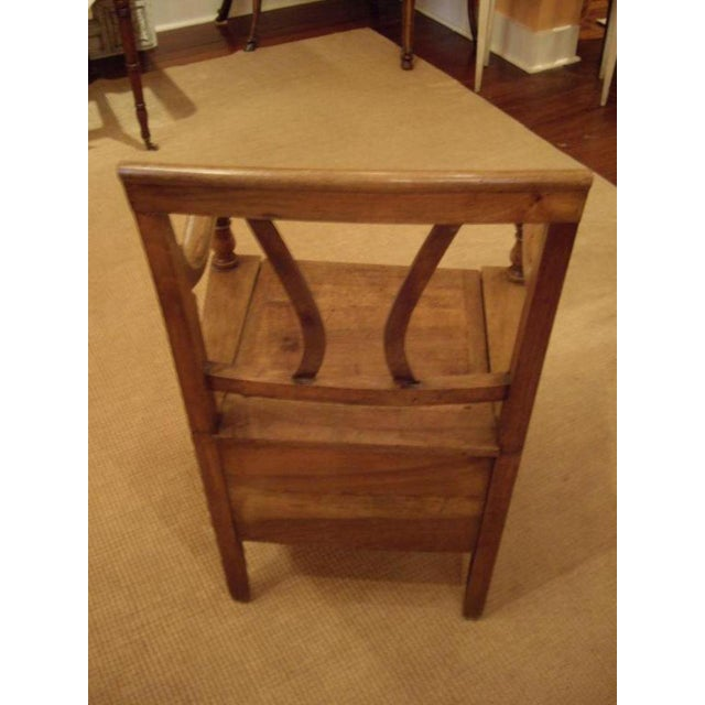 Wood 19th C. French Walnut Potty Chair For Sale - Image 7 of 8