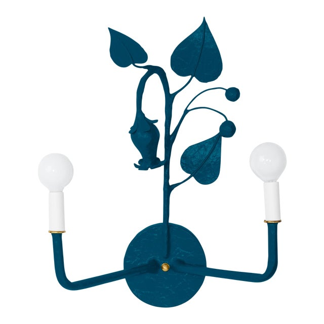 Stray Dog Designs for Chairish Efrain Sconce, Deep Blue For Sale