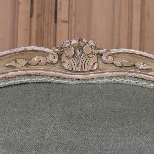 Pair 19th Century French Louis XV Bergeres ~ Armchairs For Sale - Image 9 of 12