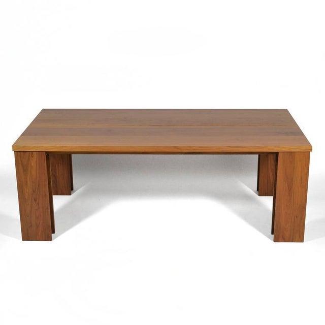 """De La Espada """"Long"""" Table in Black Walnut For Sale - Image 10 of 11"""
