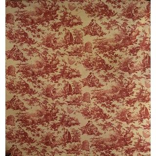 Neoclassical Laura Ashley Red and White Toile Print For Sale