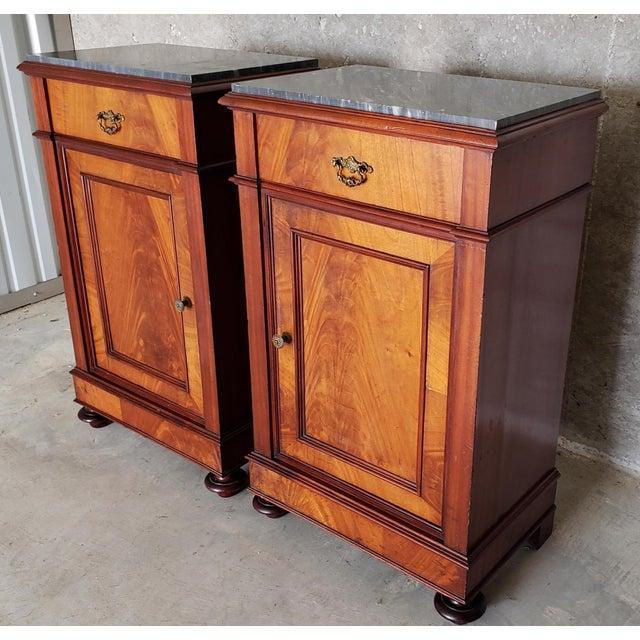 Louis Philippe 19th Century French Crotch & Burl Mahogany Confiture Cabin For Sale - Image 4 of 12