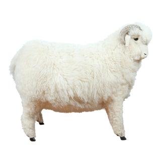 Vintage Ram/ Goat Furry Sculpture For Sale