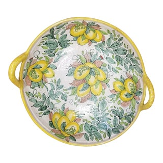 1960s Vintage Hand Painted Ceramic Bowl For Sale