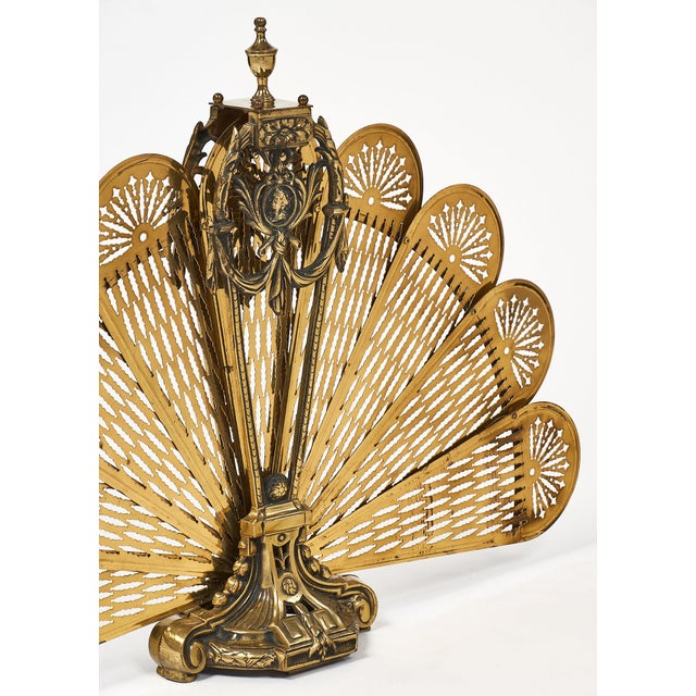 French Antique Napoleon III Period Fire Screen For Sale In Austin - Image 6 of 10