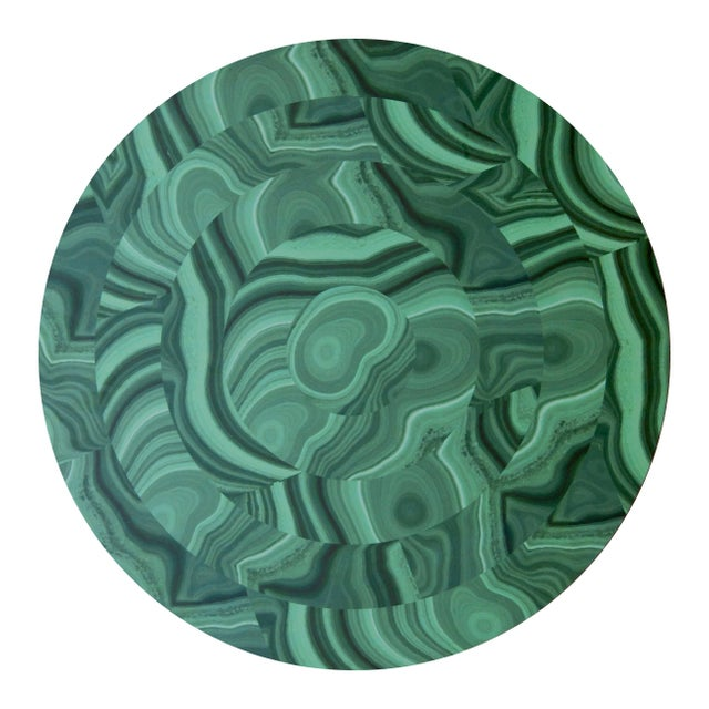 Mid-Century Modern Malachite Placemat in Green For Sale - Image 3 of 3