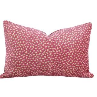 "Manuel Canovas Safari Velvet in Cyclamen Lumbar Pillow 13"" X 20"""