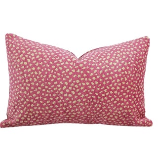"Manuel Canovas Safari Velvet in Cyclamen Lumbar Pillow Cover 13"" X 20"" For Sale"