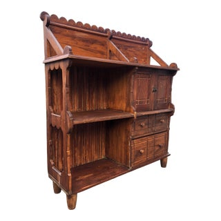 Late 19th Century Early American Bench Made Storage Cabinet For Sale