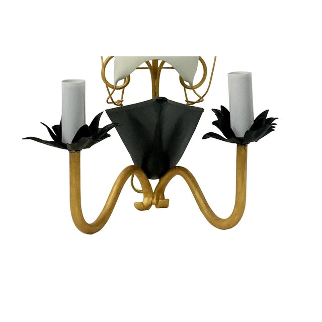 Canvas Vintage Nautical Ship Wall Sconce Lighting For Sale - Image 7 of 8