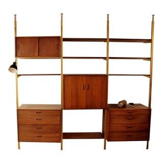 Mid Century Modern George Nelson Omni System Wall Cabinet 3 Bay Unit