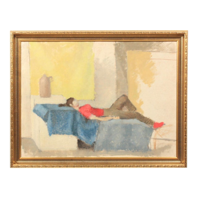 Abstract Composition of Reclined Woman For Sale