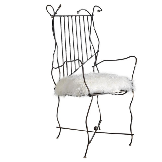 Italian Hand Made Modern Metal Chair Rare For Sale - Image 13 of 13