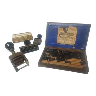 Vintage Stamp Set - Set of 5