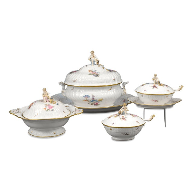 Meissen Porcelain Meissen Porcelain Dinner Service, 92 Pieces For Sale - Image 4 of 6