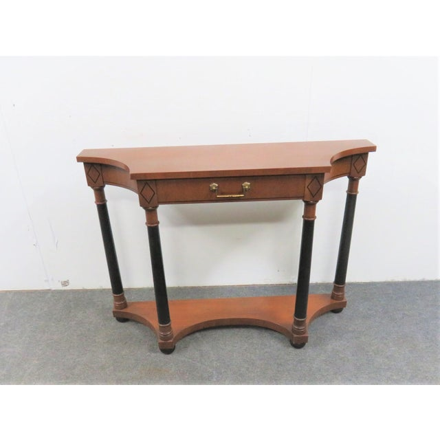 French Empire Hekman Cherrywood Console Table For Sale In Philadelphia - Image 6 of 6