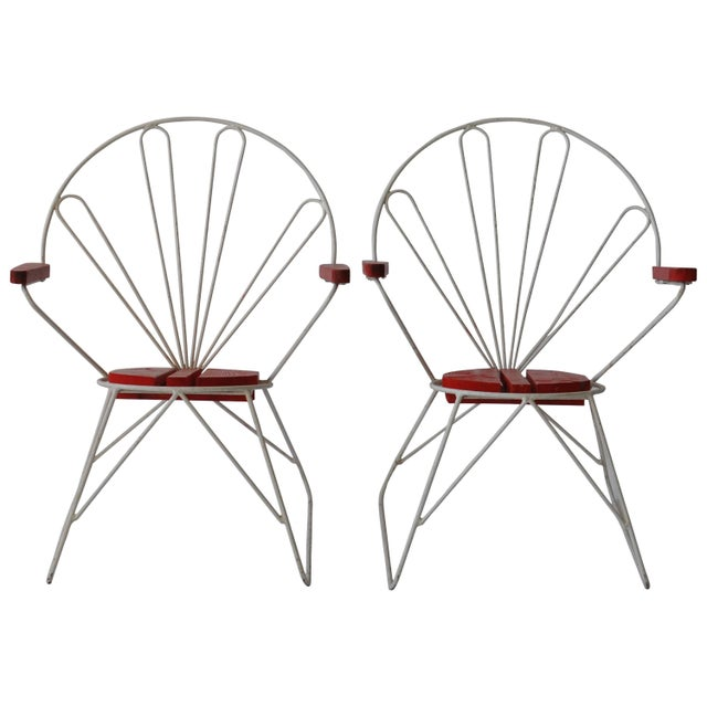 Pair of Swedish Garden Chairs For Sale In Boston - Image 6 of 6