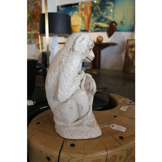 Ceramic Monkey Sculpture For Sale - Image 9 of 10