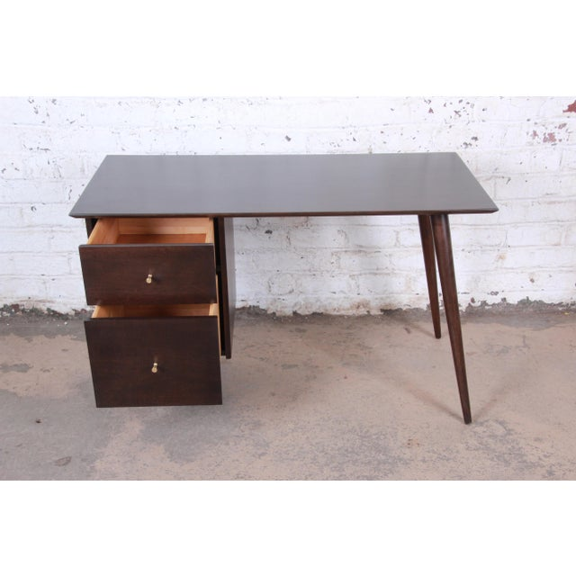 Wood Paul McCobb Mid-Century Modern Planner Group Desk and Chair, Newly Restored For Sale - Image 7 of 13