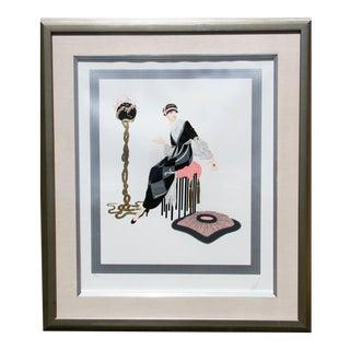 "Erté, ""Harmony"", Art Deco Screenprint For Sale"