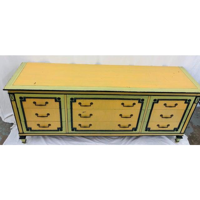 Vintage Painted Credenza Dresser For Sale - Image 10 of 12
