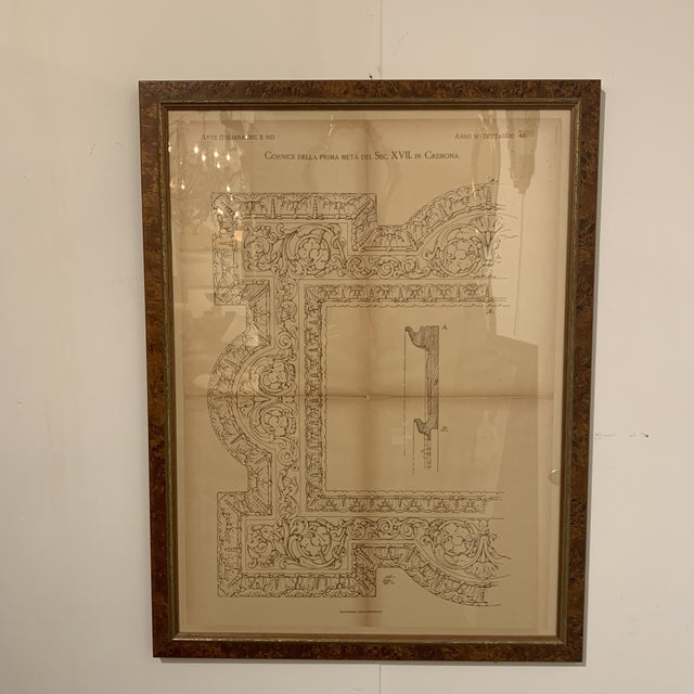 Traditional Late 19th Century Antique Architectural Print For Sale - Image 3 of 13