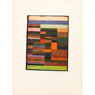 "1955 Paul Klee, ""Individualized Measurement of Strata"" First American Edition Lithograph For Sale"